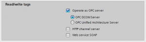TIA Portal WinCC RT Advanced OPC DA Server Operate as opc server DCOM