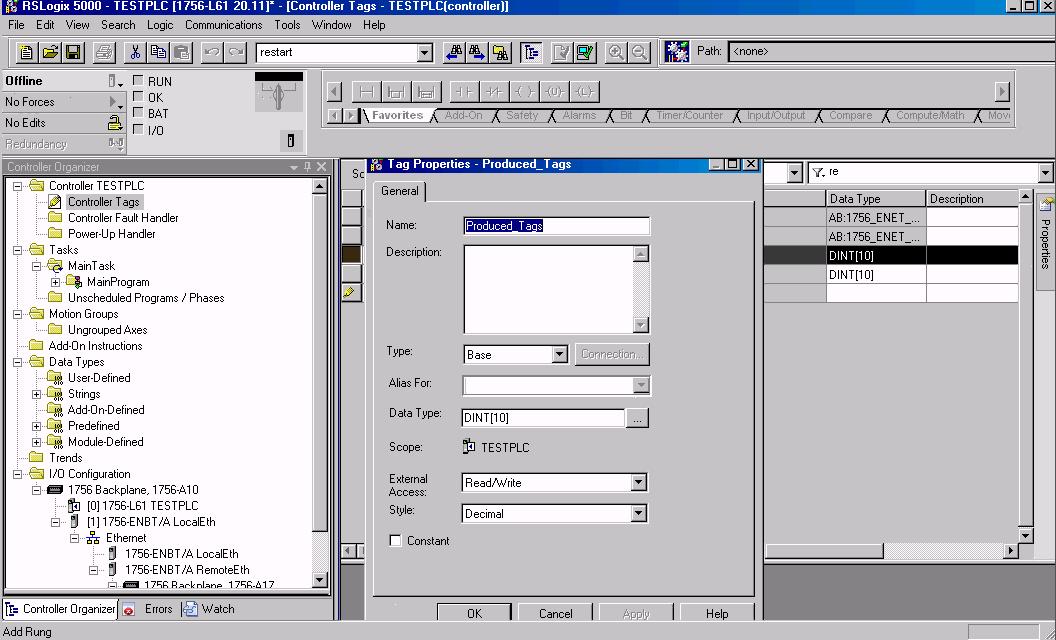 Communication between Controllogix or Compactlogix PLC's